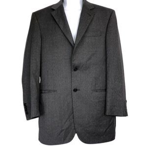 Jos A. Bank Charcoal 100% Wool Dress Jacket - 36R